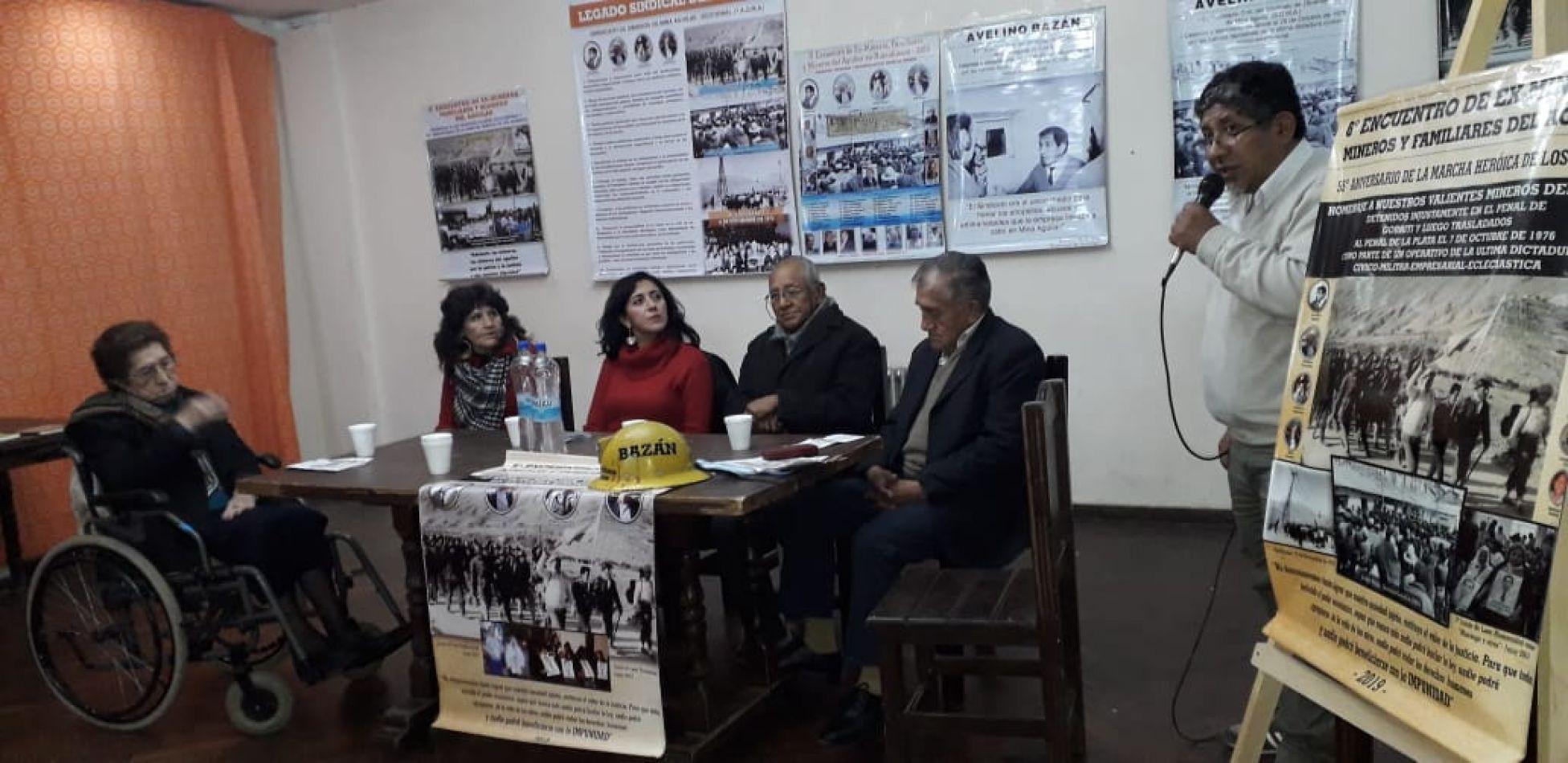 Ex mineros de El Aguilar recordaron a Avelino Bazán