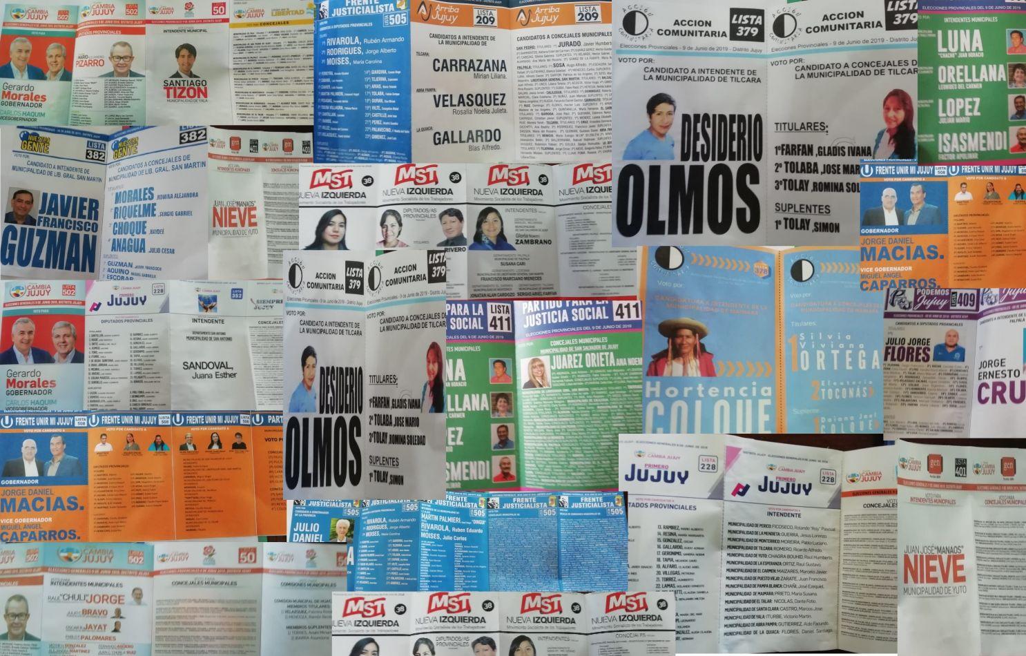 Se expusieron más de 200 boletas para las elecciones del 9 de junio