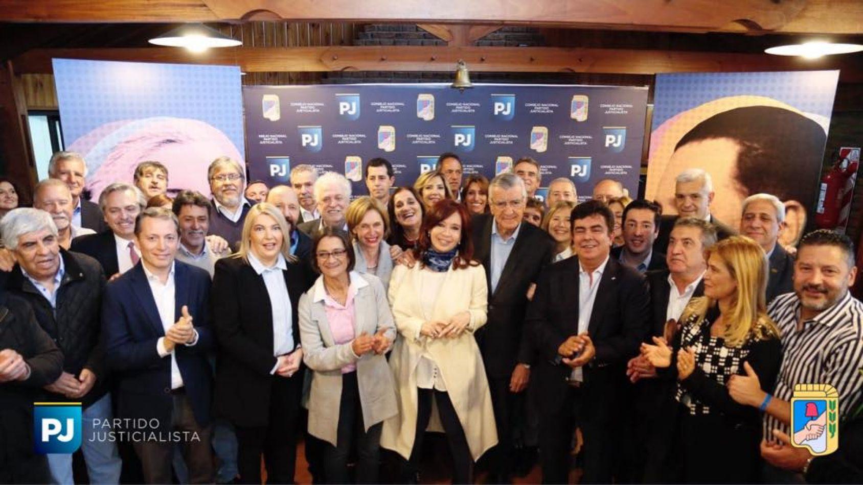 Cristina participó en la reunión del PJ en una fuerte señal electoral