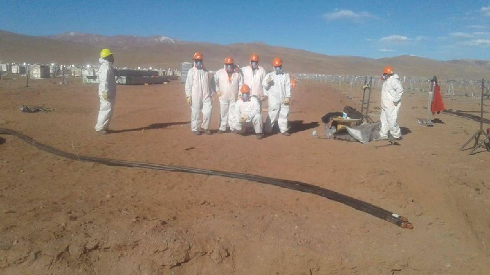 Trabajadores del Parque Solar Cauchari mantienen reclamos salariales