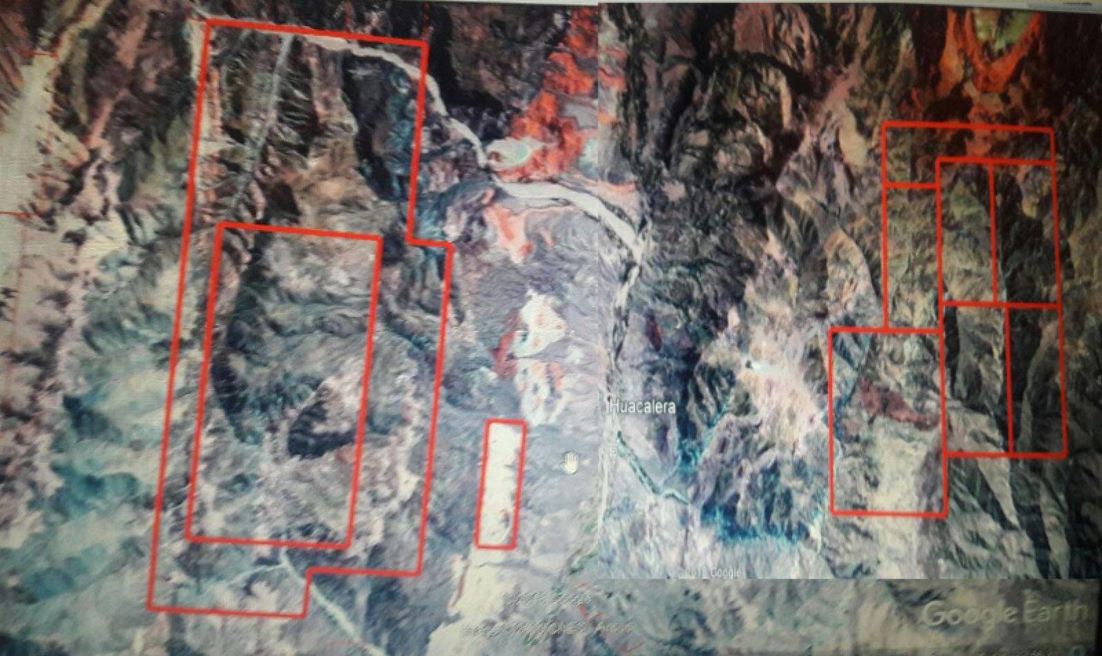 Huacalera. Zonas con pedidos de explotación minera.