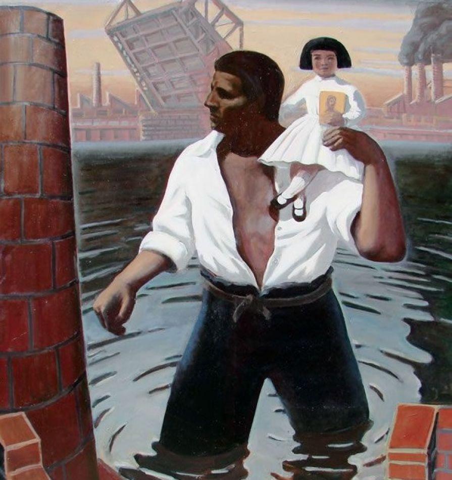 Cuadro: El Descamisado, de Daniel Santoro