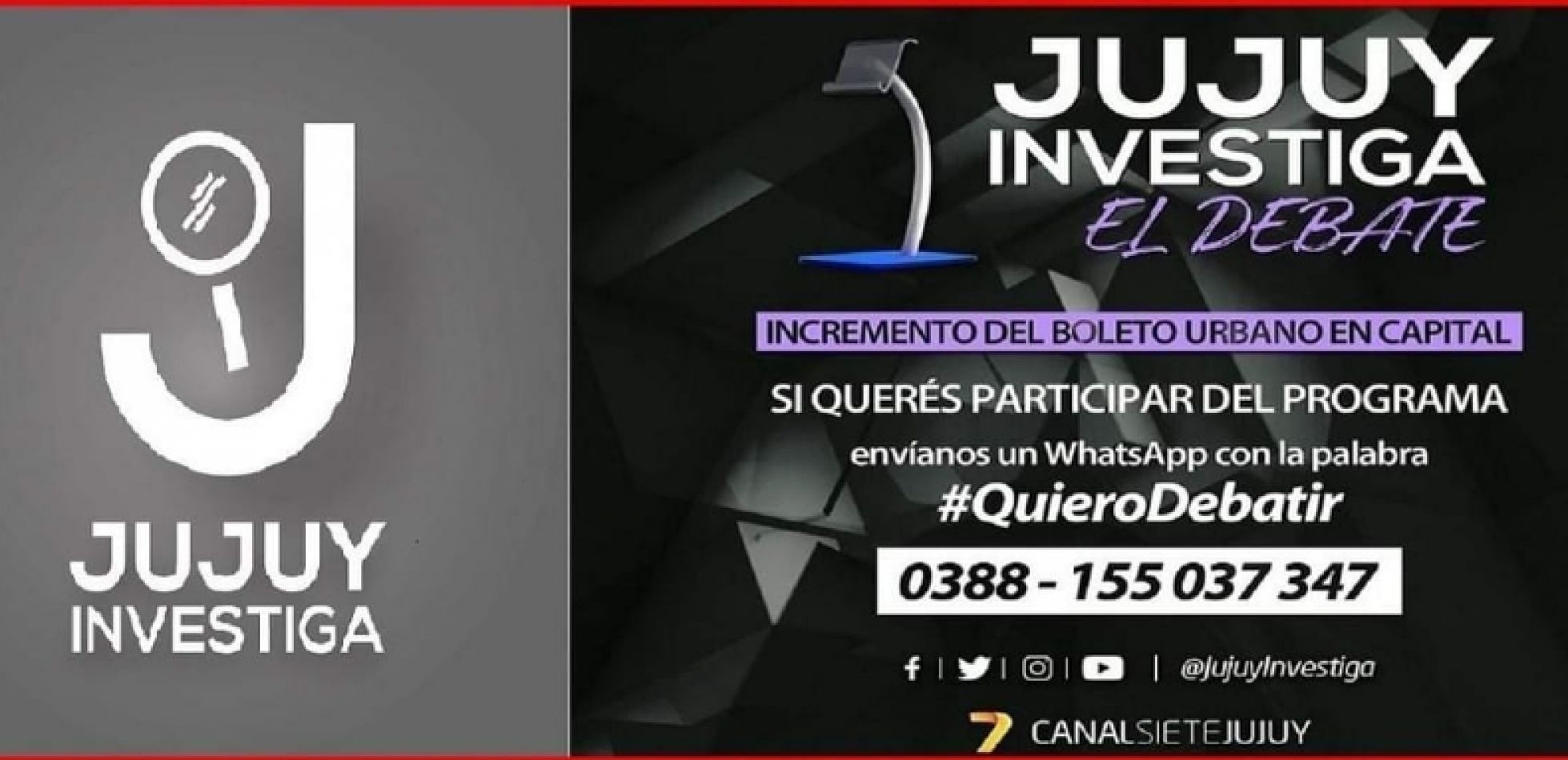Promoción del programa Jujuy Investiga de Canal 7