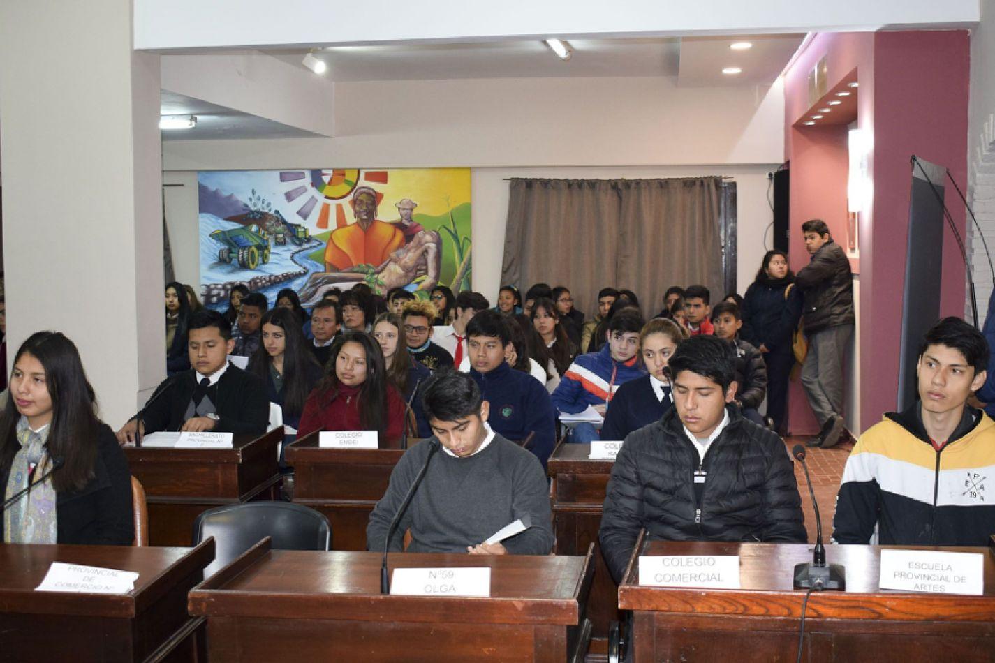 Se realizó la primera sesión ordinaria del Concejo Deliberante Estudiantil