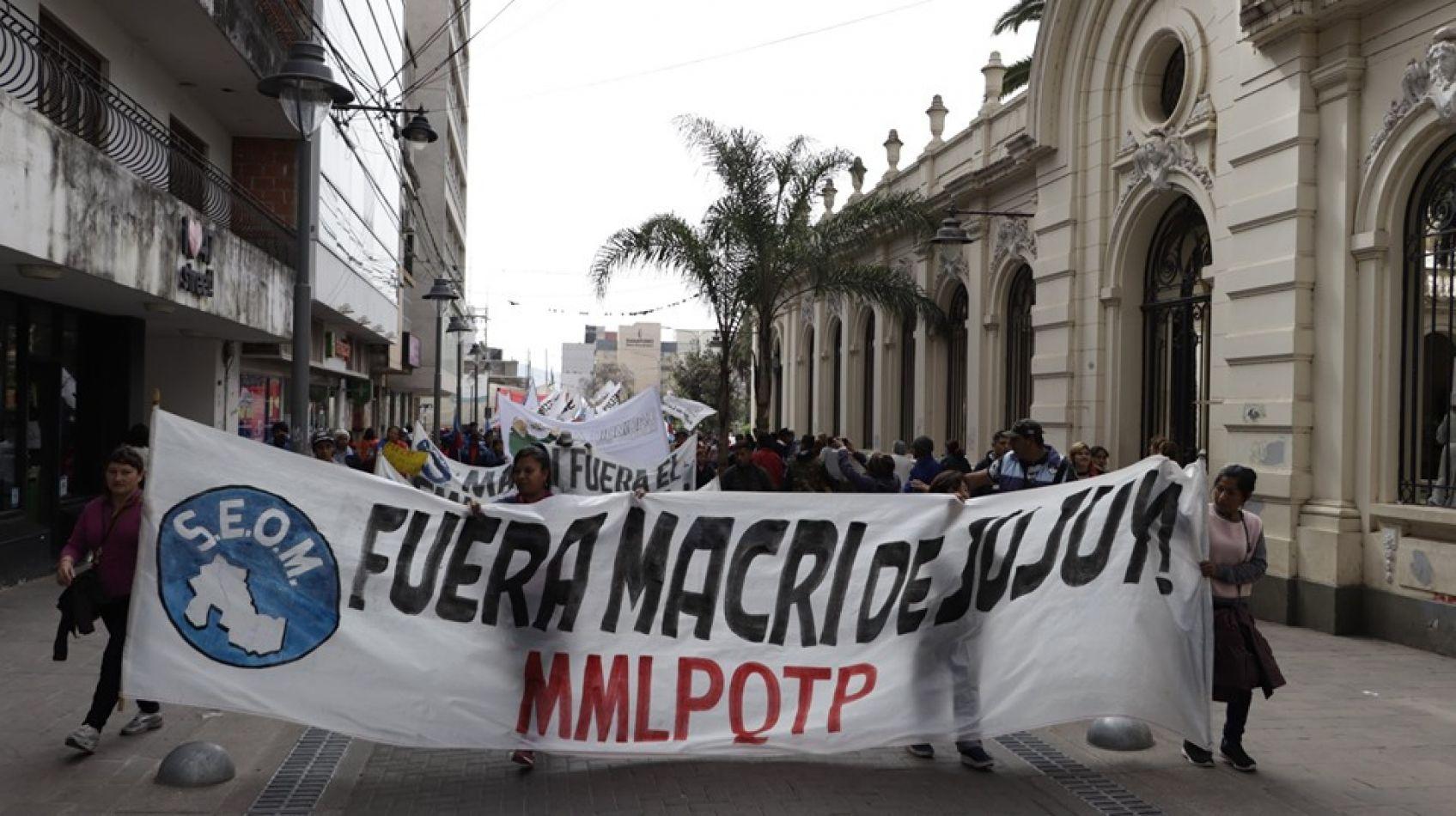 La visita de Mauricio Macri fue repudiada en las calles de Jujuy