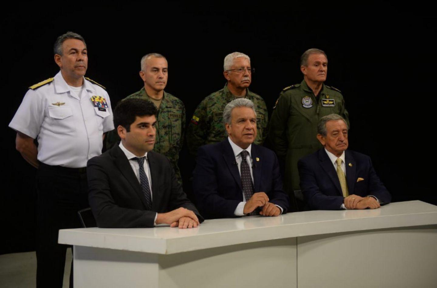 Macri y Bolsonaro en apoyo de Lenin Moreno: denuncian un golpe de Maduro en Ecuador