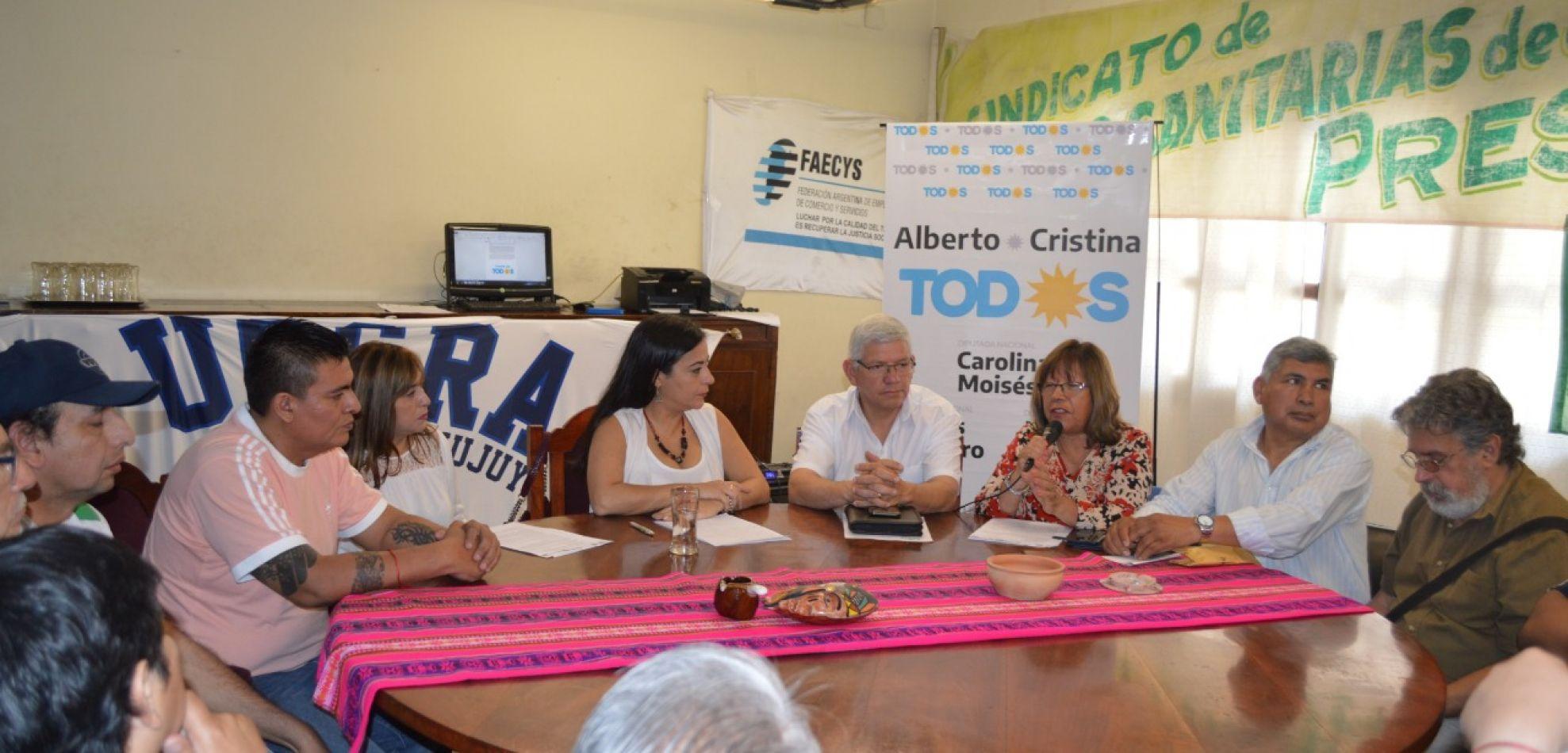 La Mesa Sindical del Frente de Todos se conformó en Jujuy