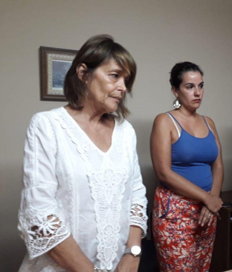 Fiscal Liliana Montiel y su secretaria Agustina Aramayo
