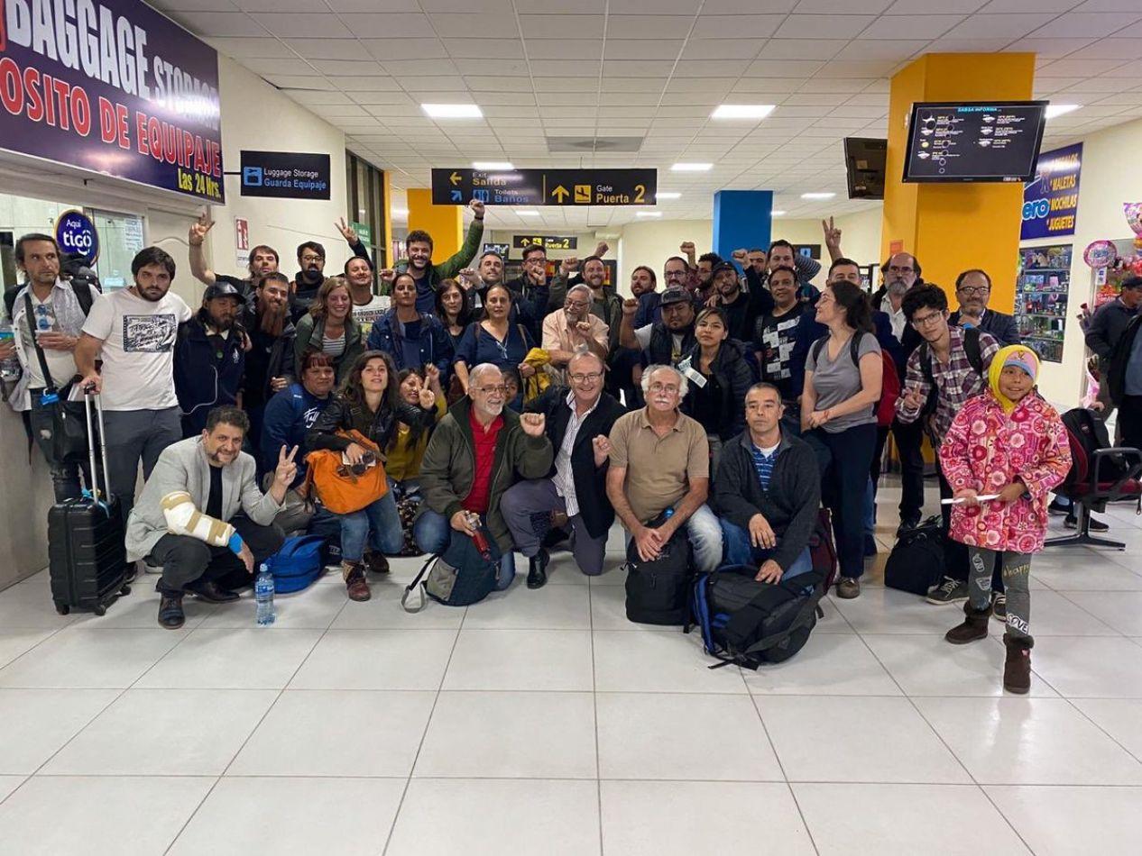 Foto: Twitter Delegación Argentina Solidaria con el Pueblo Boliviano
