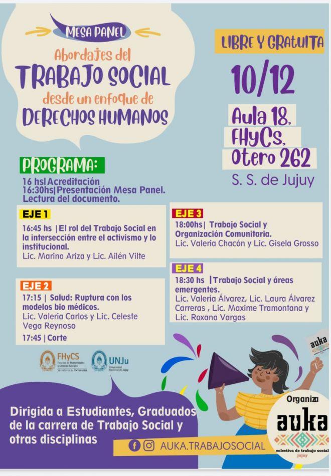 """""""Trabajo Social desde un enfoque de Derechos Humanos"""" en Jujuy"""