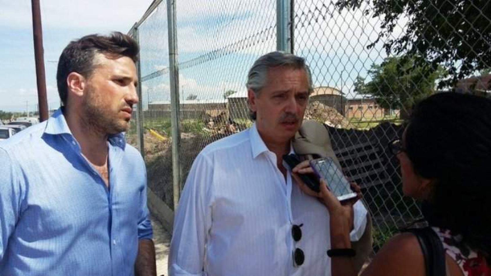 Foto: Jujuy Al Momento. Alberto Fernández en el penal de Alto Comedero