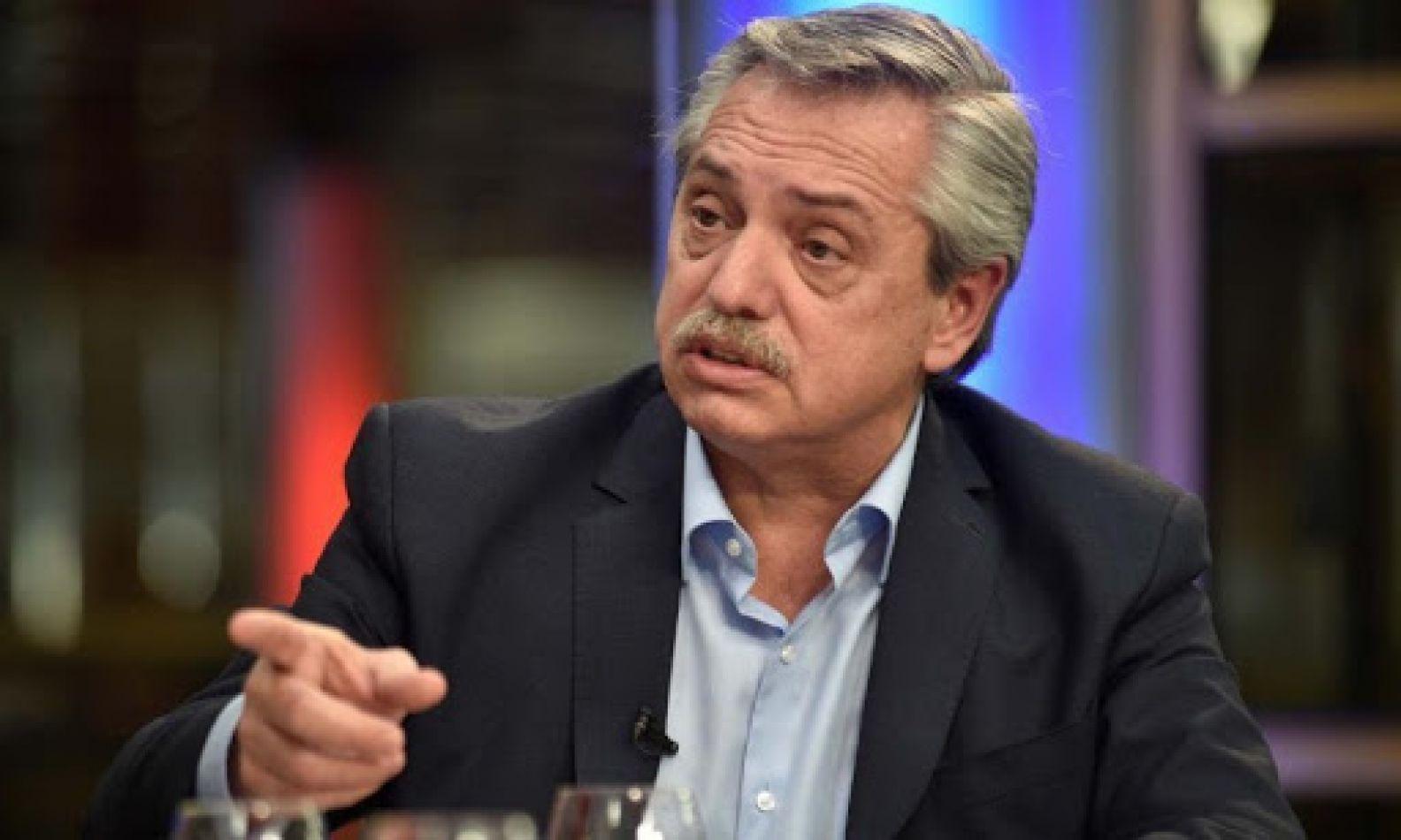 """Alberto Fernández: """"yo no tengo a nadie detenido sin causa a disposición del Ejecutivo"""""""