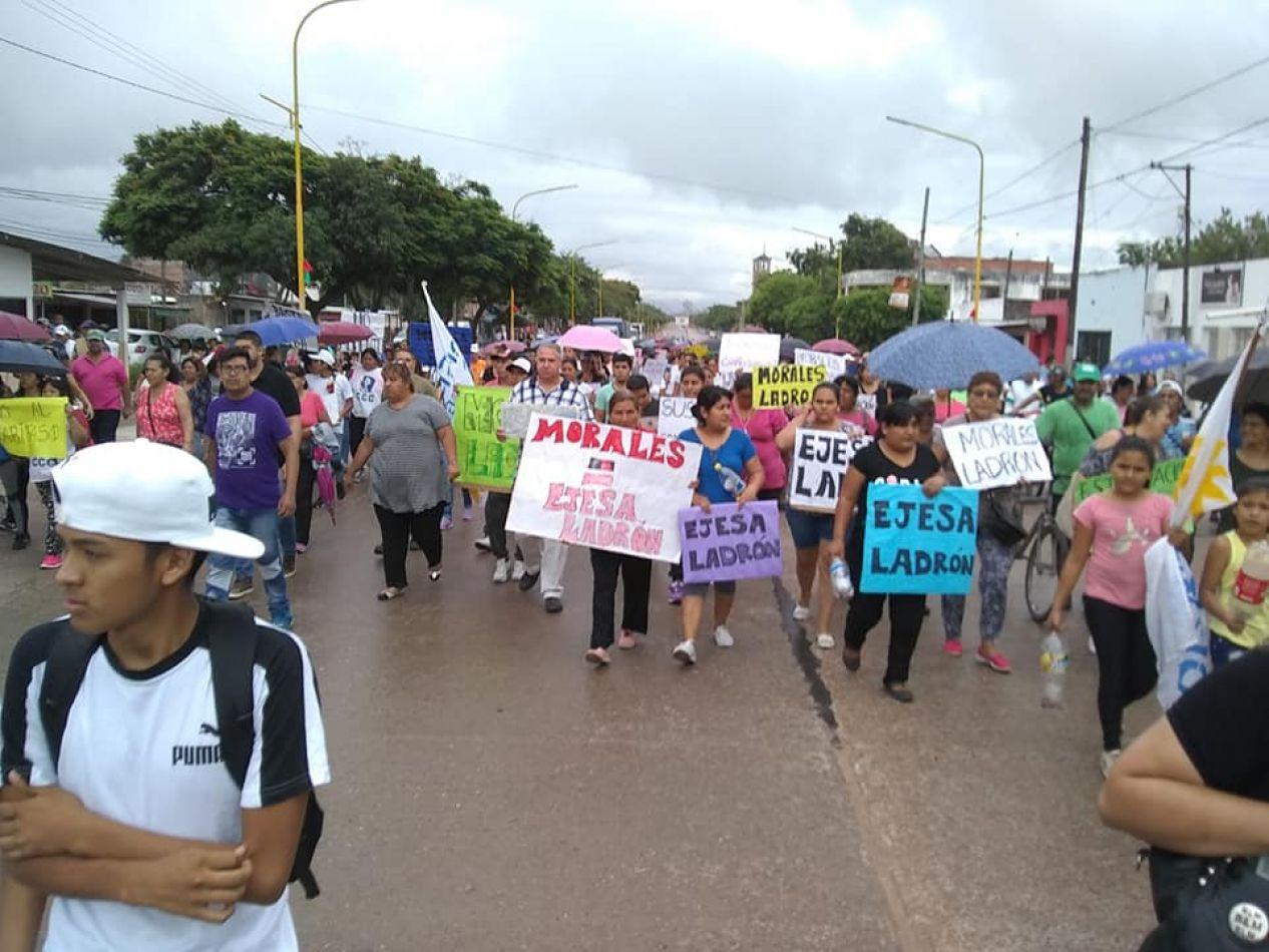 Foto: Facebook Capoma DDHH. Movilización en Libertador General San Martín