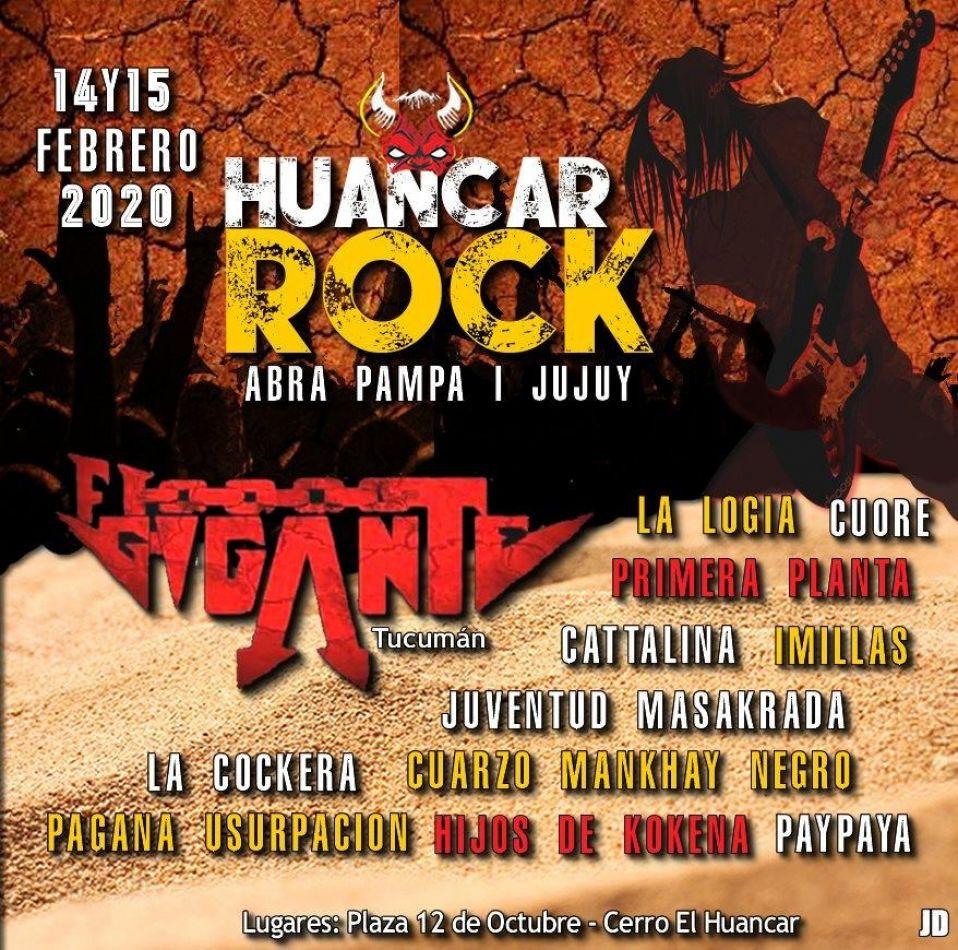Mañana comienza el festival Huancar Rock 2020