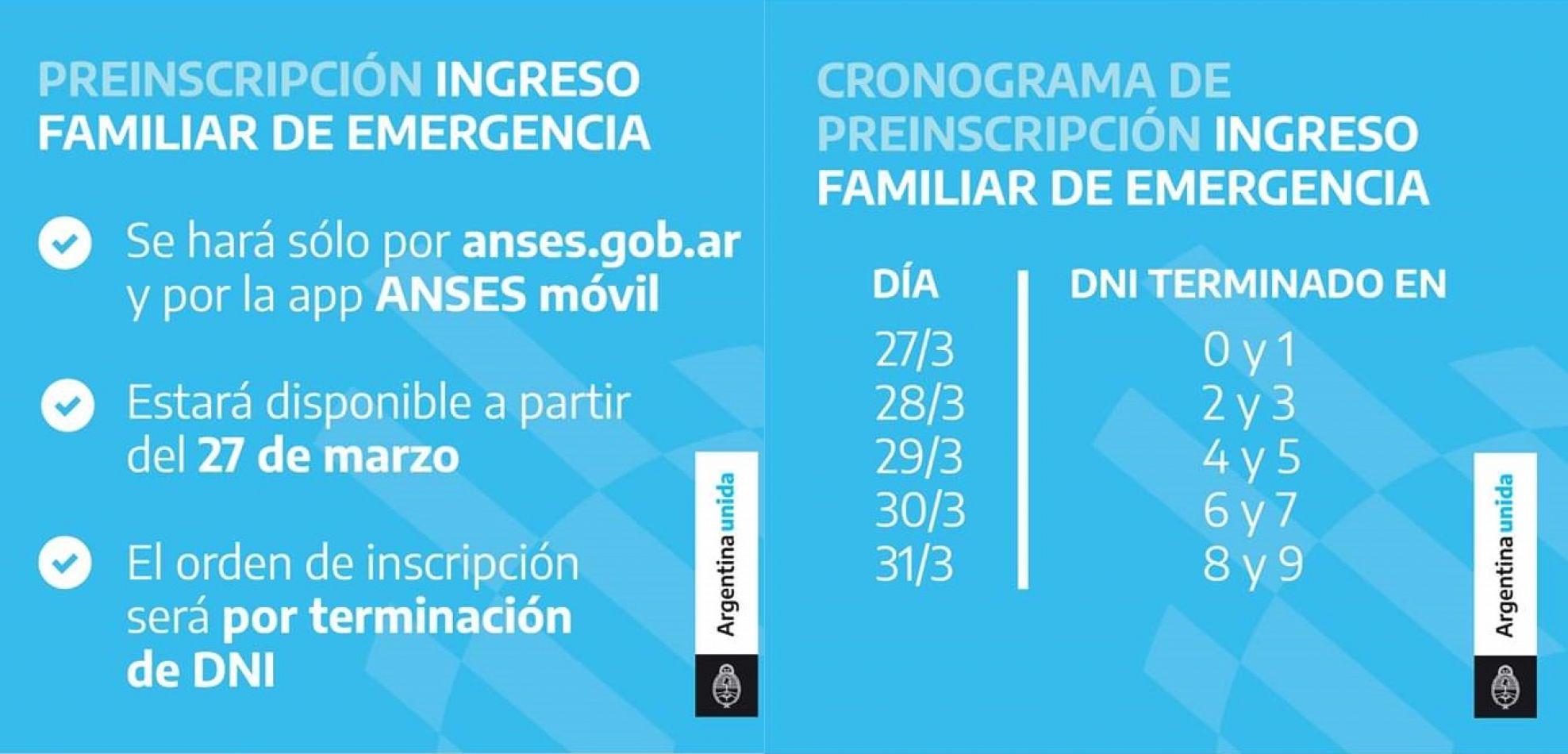 Desde este viernes 27 ANSES abre la inscripción para cobrar el Ingreso Familiar de Emergencia