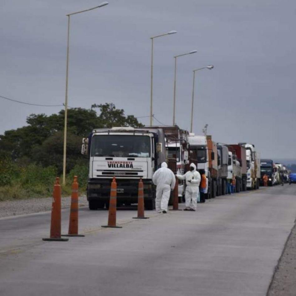 Otra vez un camionero dio positivo a un test rápido en el control caminero de Pampa Blanca