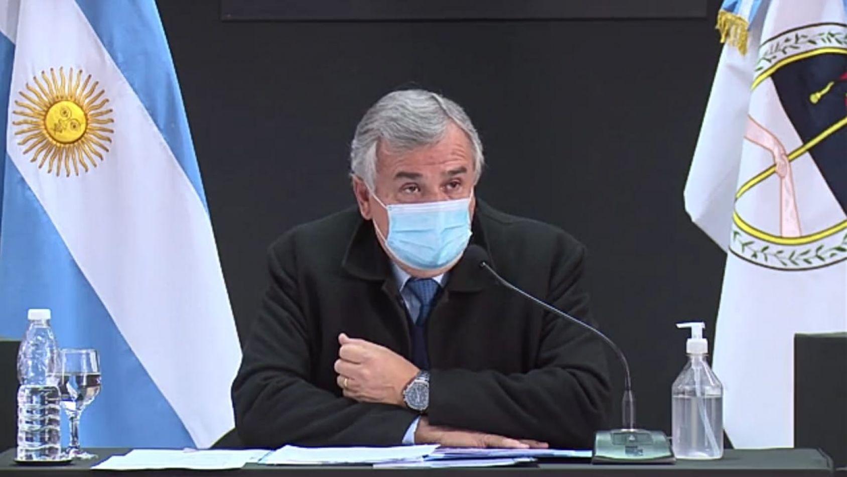 El gobernador adelantó que recién el domingo van a saber cuál es la situación de Jujuy respecto al Covid