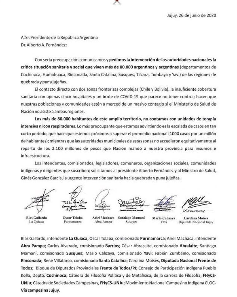 Intendentes de Quebrada y Puna pidieron asistencia a la Nación, pero las presiones del gobierno provincial los hizo retroceder