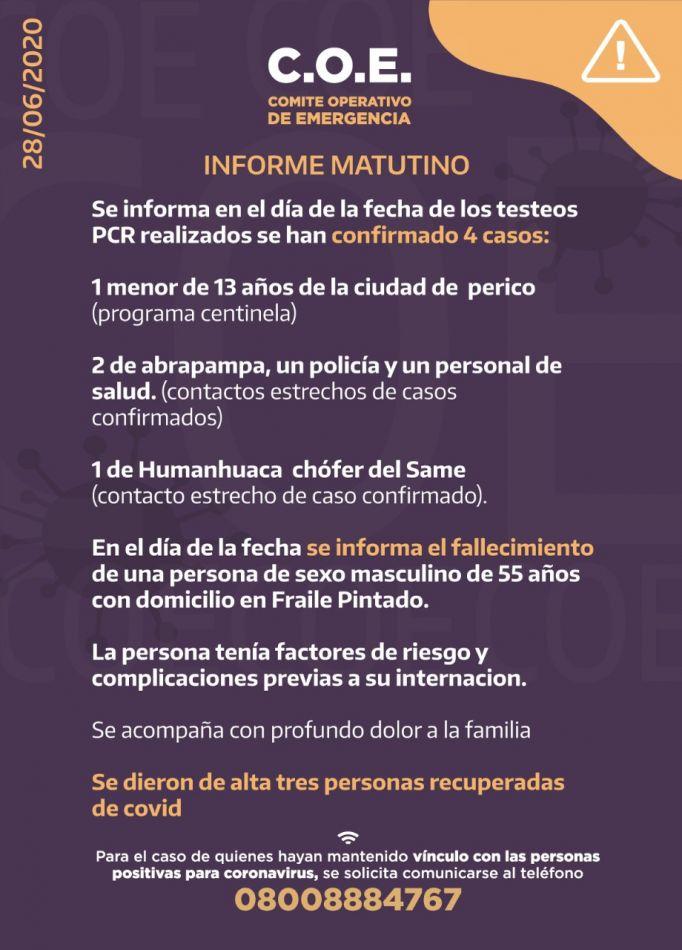 Tercera víctima fatal en Jujuy por Covid 19
