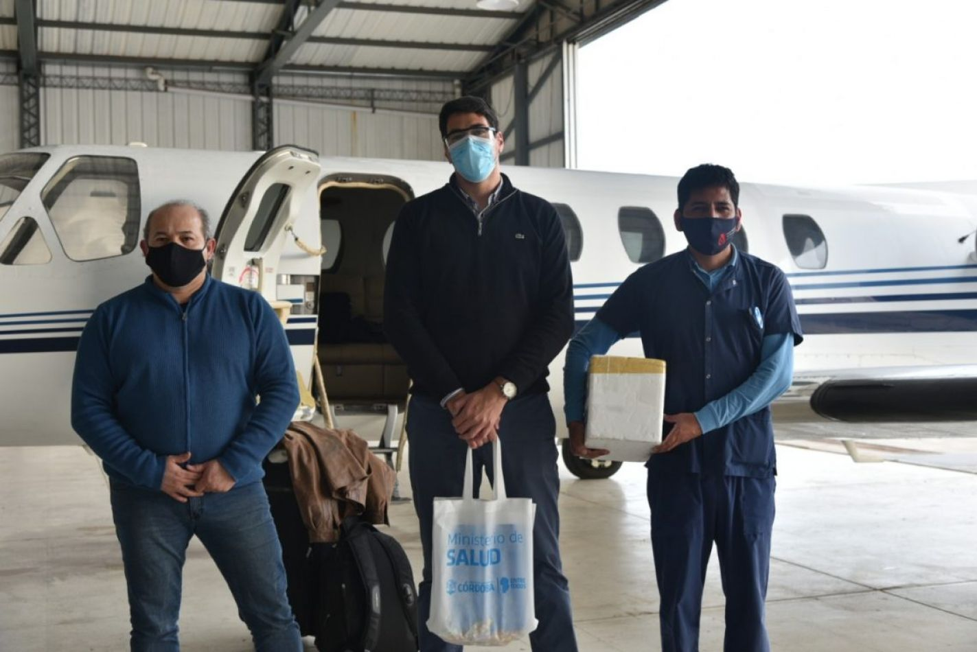 Foto: Prensa Jujuy. Llegada a Jujuy de los profesionales de la salud desde Córdoba