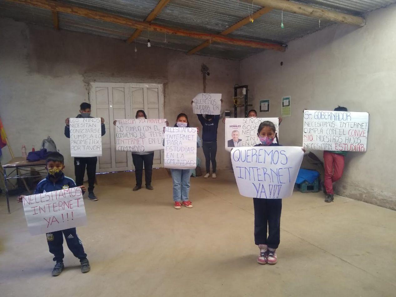 Comunidad de Angosto El Perchel denuncia que el gobierno de Jujuy y Telecom incumple con un convenio (vídeo)