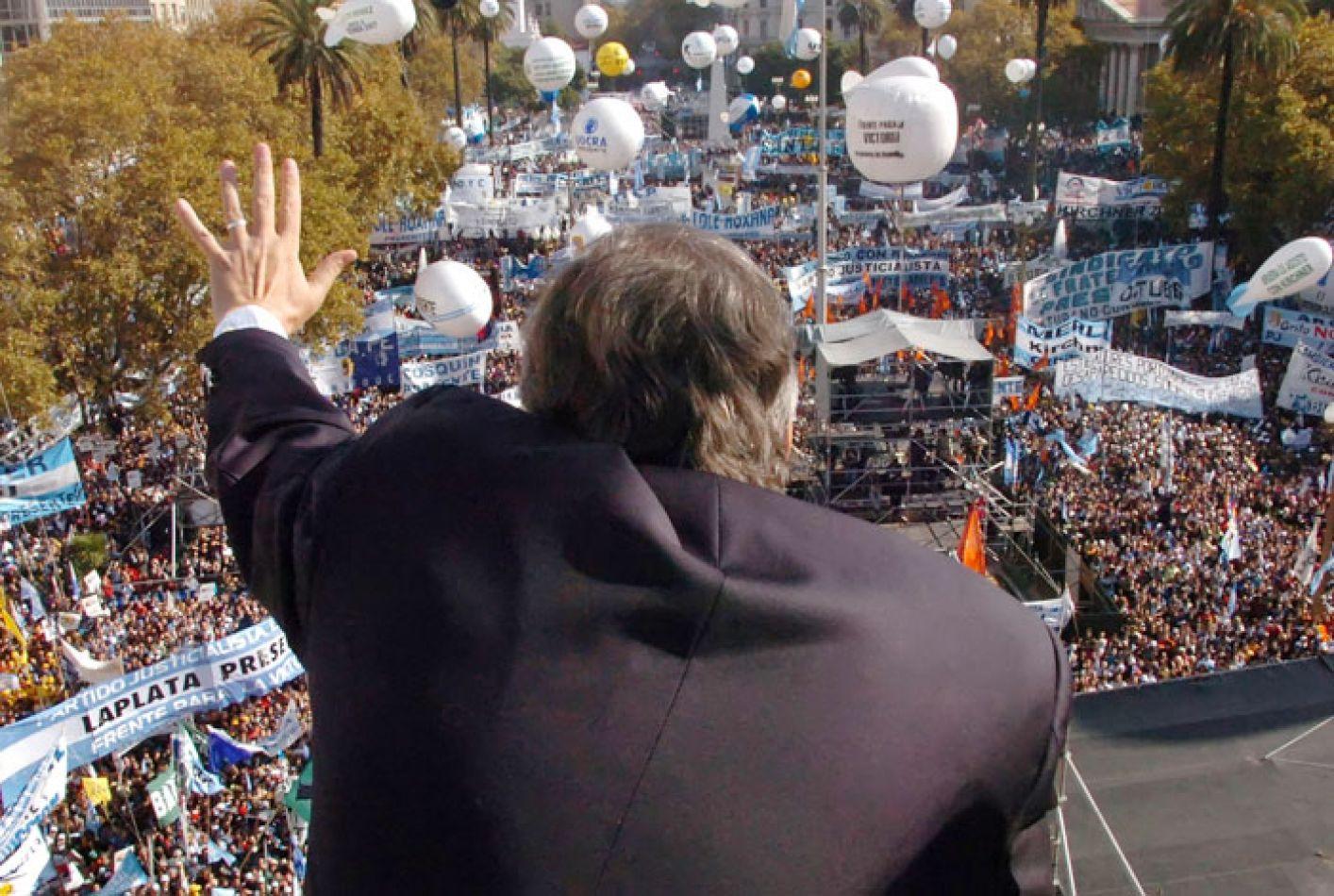 La foto que eligió CFK para acompañar la carta.