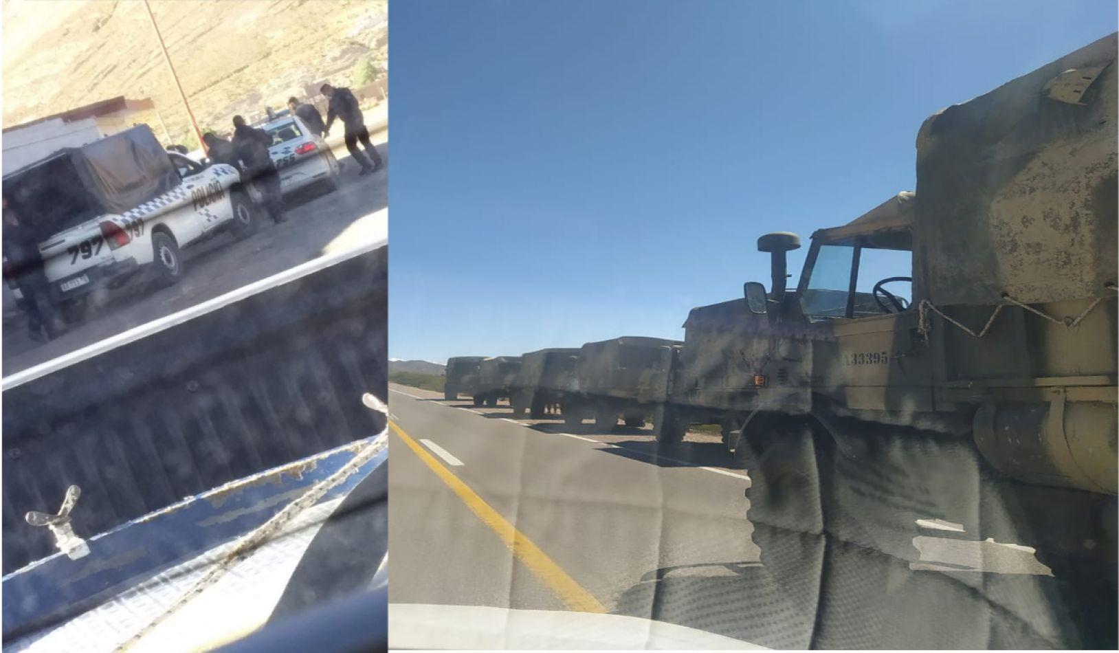 Inusitado despliegue de las fuerzas de seguridad en Mina Aguilar