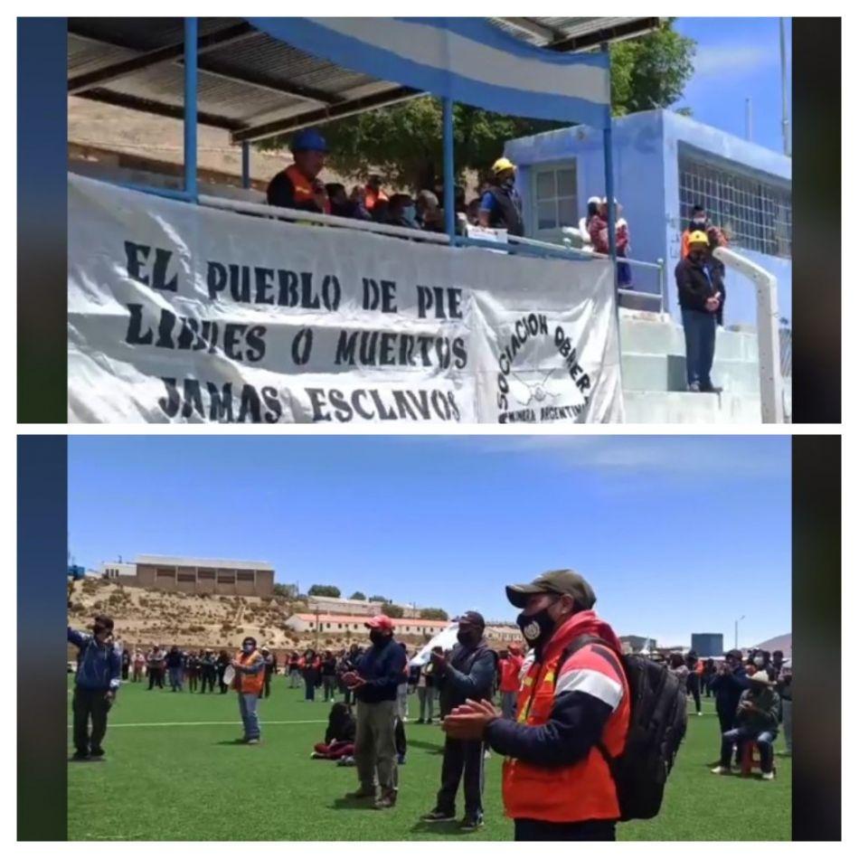 """""""No vamos a permitir retiros voluntarios en mina Aguilar"""" fue la decisión unánime de los mineros"""