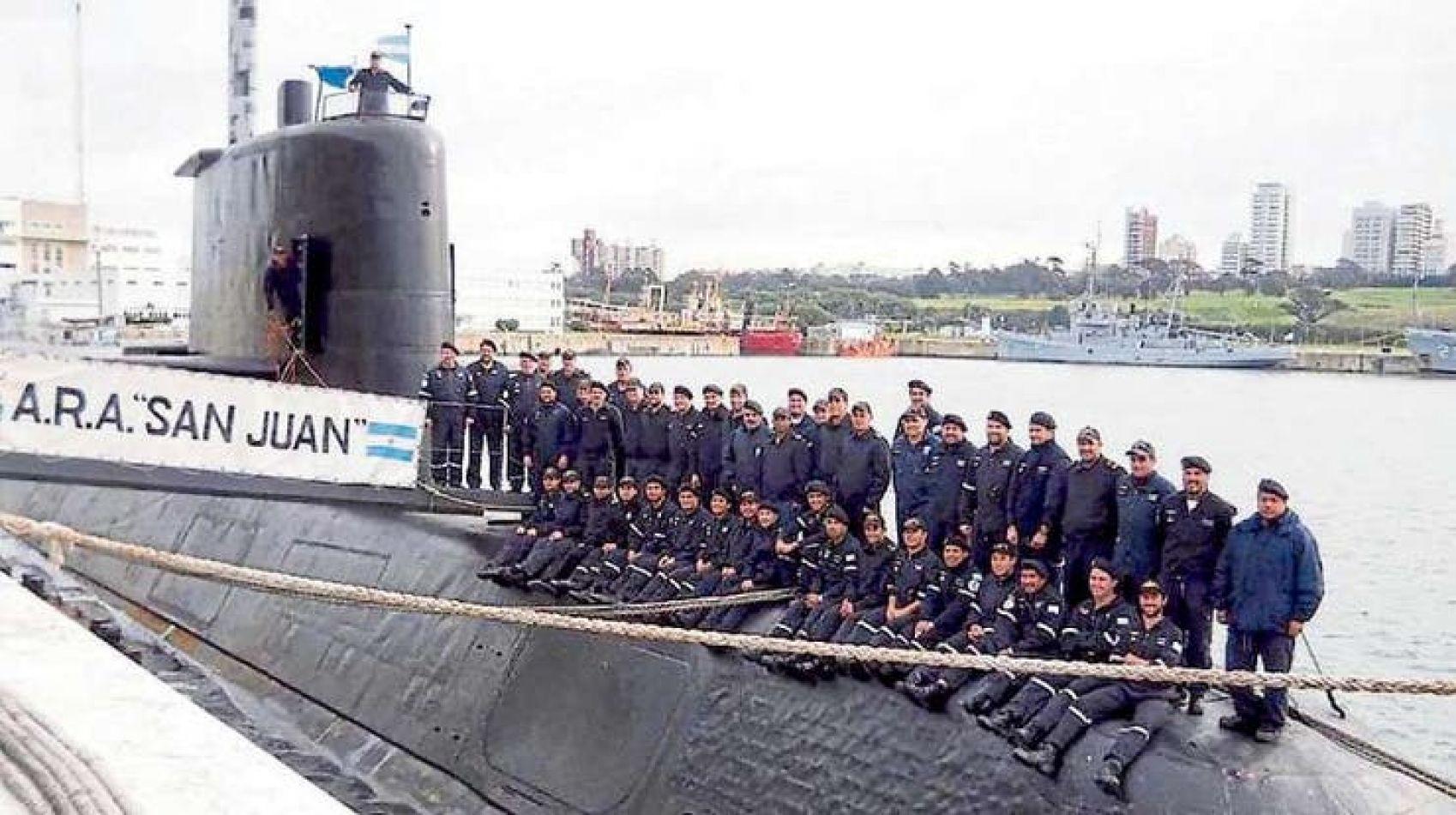 Foto: tripulantes del ARA San Juan (La Capital de Mar del Plata)