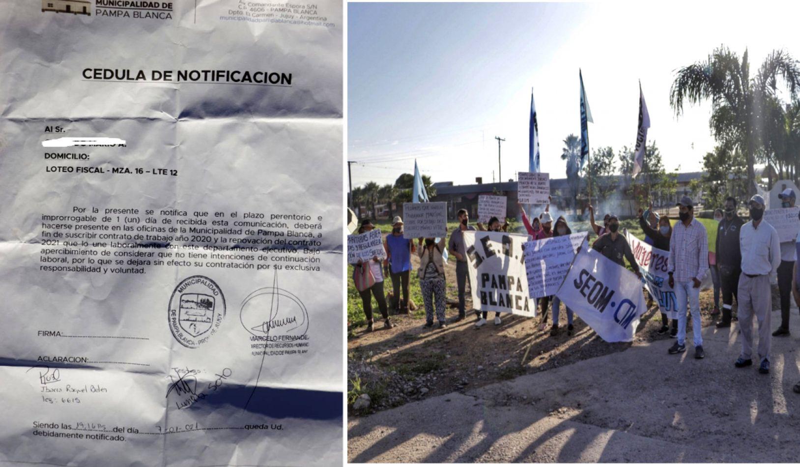 El SEOM extiende el paro por otras 48 horas en Pampa Blanca