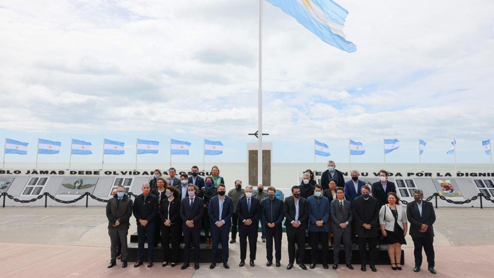 Foto: el gabinete nacional en Río Grande, Tierra del Fuego