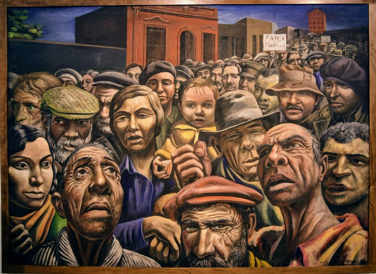 "Pintura: ""Manifestación"", Antonio Berni"