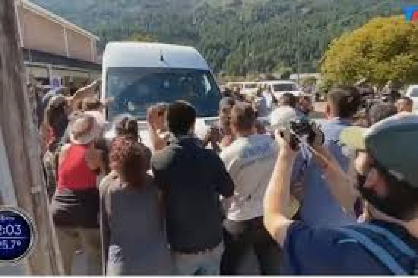 Cómo fueron los incidentes durante la visita de Alberto Fernández a Lago Puelo