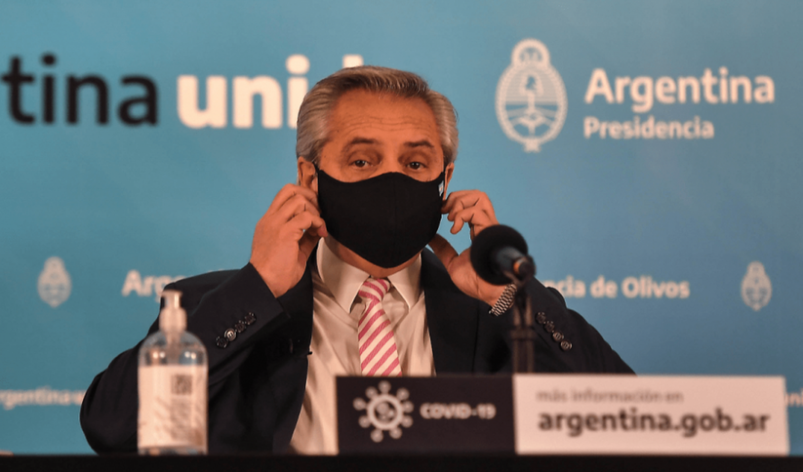 """""""Asintomático y estable"""", así es el estado de salud de Alberto Fernández tras contraer covid"""